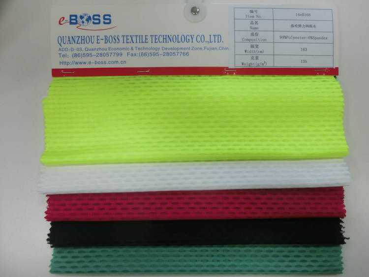 100% polyester elastic polo shirt fabric